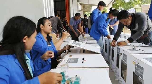 شروع بزرگترین انتخابات یک روزه دنیا در اندونزی