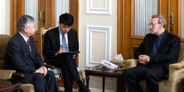 لاریجانی: دورنمای عملیاتی در روابط میان چین و ایران در جریان رفت وآمد هیأت ها به دست آید