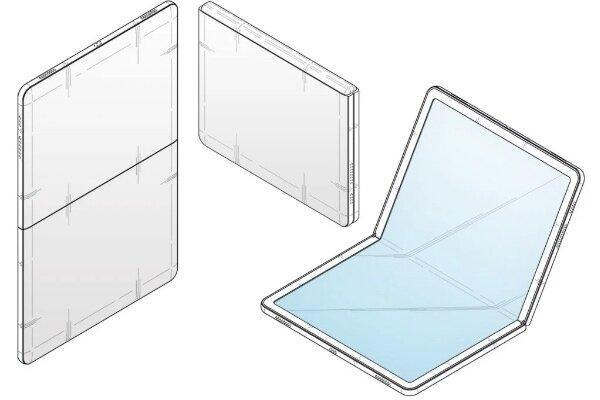 طرح اولیه سامسونگ از موبایلی تاشو با لولای مخفی