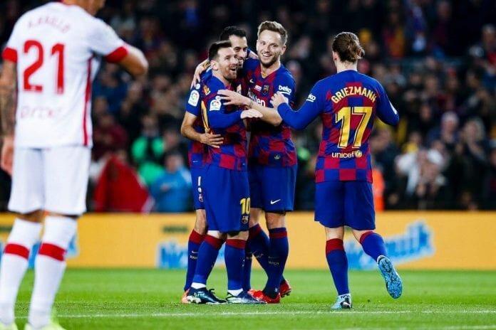 فیلم ، بارسلونا 5 بر 2 مایورکا را در هم کوبید ، لیونل مسی یک رکورد دیگر رونالدو را شکست