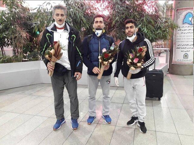 بازگشت ملی پوشان ژیمناستیک ایران بعد از نیمه کار ماندن جام جهانی باکو