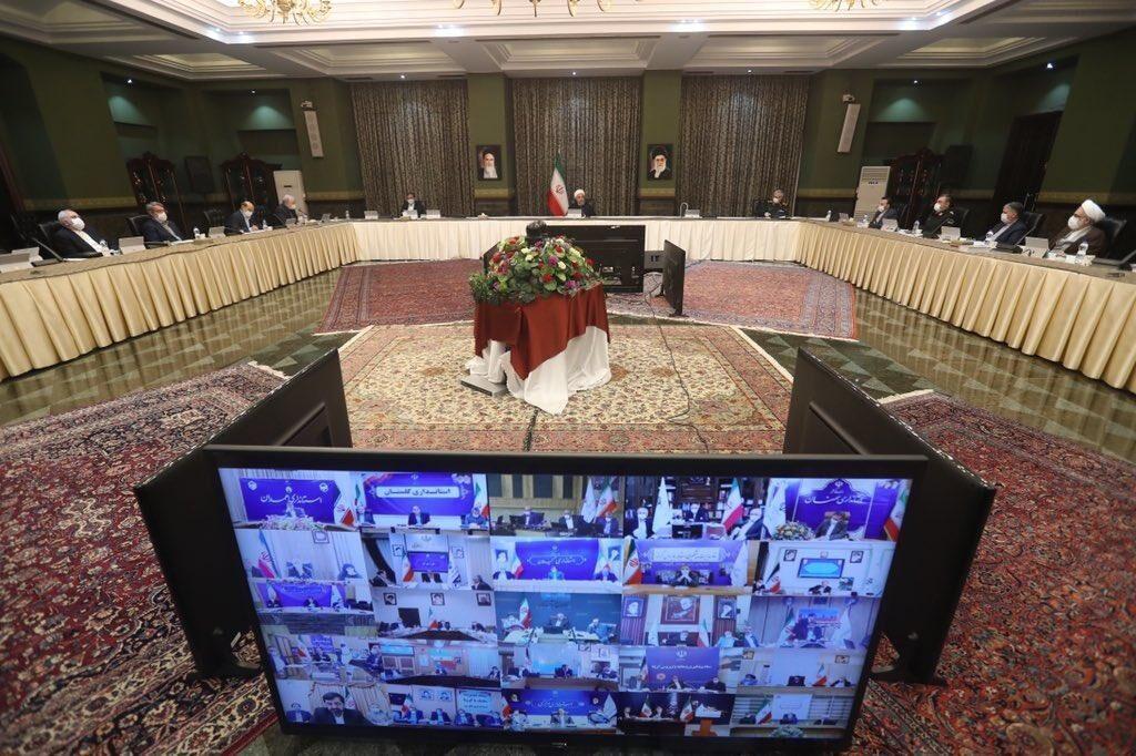 خبرنگاران جلسه ستاد ملی مدیریت کرونا به ریاست رییس جمهوری برگزار گشت