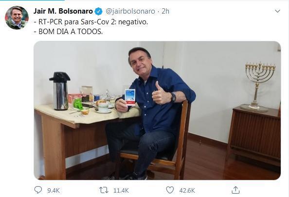 تست کرونا رییس جمهوری برزیل منفی شد (