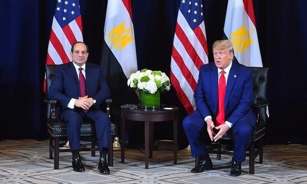 گفتگوی ترامپ و رئیس جمهور مصر درباره بحران لیبی