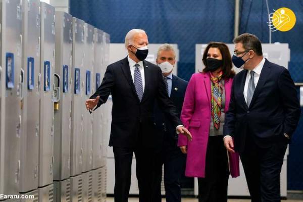 (تصاویر) بازدید جو بایدن از کارخانه تولید واکسن فایزر