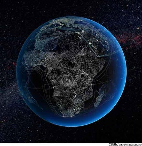 نقشه ای از تار عنکبوت انسانی بر کره زمین!